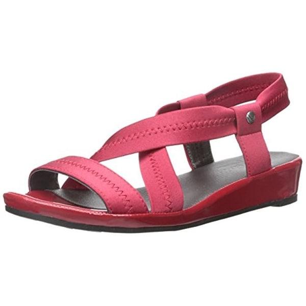LifeStride Womens Debutante Dress Sandals Mini Wedge Stretch