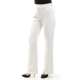 ANNE KLEIN $99 Womens New 1242 Ivory Boot Cut Wear To Work Pants 6 B+B