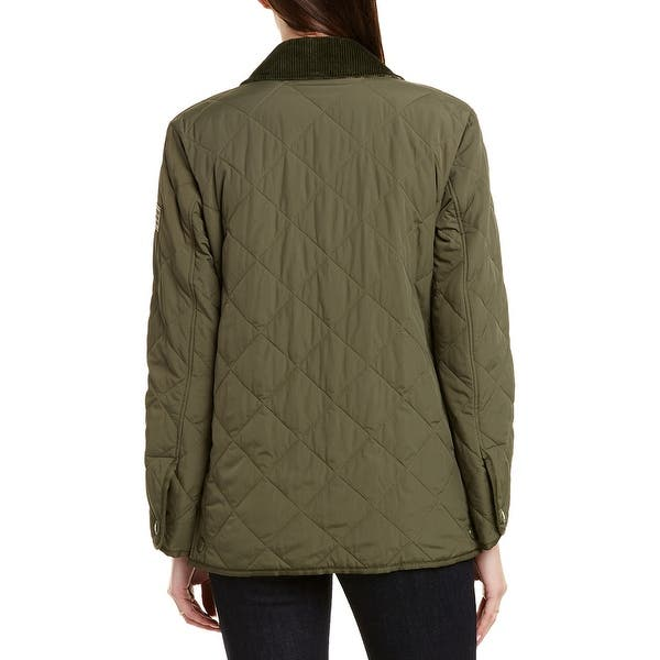 Shop Burberry Diamond Quilted Thermoregulated Barn Jacket