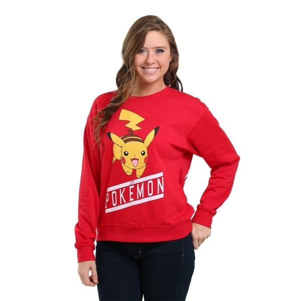 Pokemon Front & Back Pikachu Juniors Crew Sweatshirt