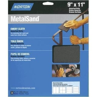 "Norton 47820 Medium Grit Emery Cloth 9"" x 11"""