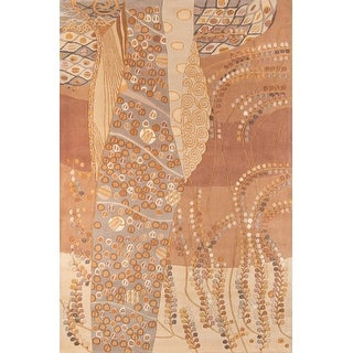Momeni New Wave Beige Hand-Tufted and Hand-Carved Wool Rug (7'6 X 9'6)