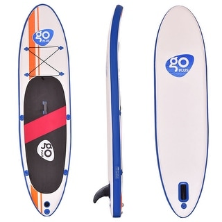 Goplus 10'Inflatable Stand Up Paddle Board w/ Fin Adjustable Paddle Backpack