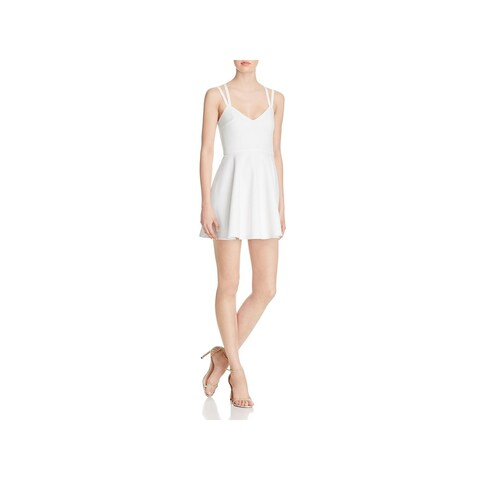 French Connection Womens Party Dress Criss-Cross Back Fit & Flare