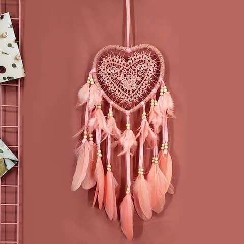60cm Creative Dream Catcher Hollow Heart Shape Home Decoration Hanging Ornament Handmade