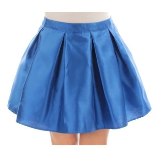 TEEZE ME Womens New 1222 Blue Above The Knee Pleated Casual Skirt 11 Juniors B+B