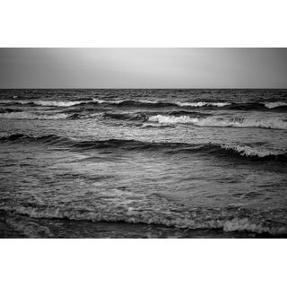 Black And White Waves Photograph Art Print