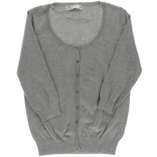 Zara Womens Button Front Scoop Neck Cardigan Sweater - XL