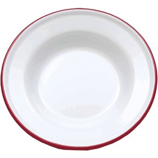 """Crow Canyon V19RED Vintage Raised Salad Plate, 8"""" D, Red Rim"""