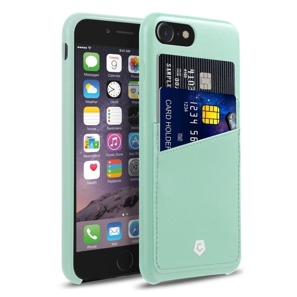 CobblePro Mint Green Leather with Wallet Flap Pouch For Apple iPhone 7
