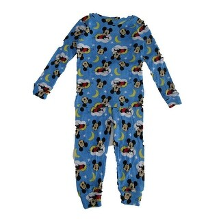 Shop Elowel Little Boys Blue Helicopter Print Zipper Footed Pajama