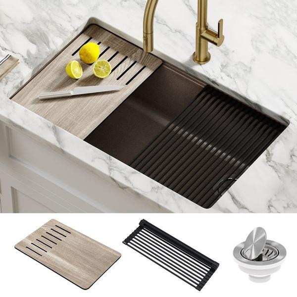 KRAUS Bellucci Workstation Undermount Granite Composite Kitchen Sink. Opens flyout.
