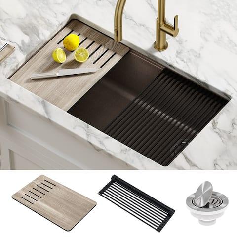 KRAUS Bellucci Workstation Undermount Granite Composite Kitchen Sink
