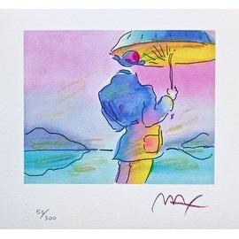 Umbrella Man, Ltd Ed Lithograph, Peter Max