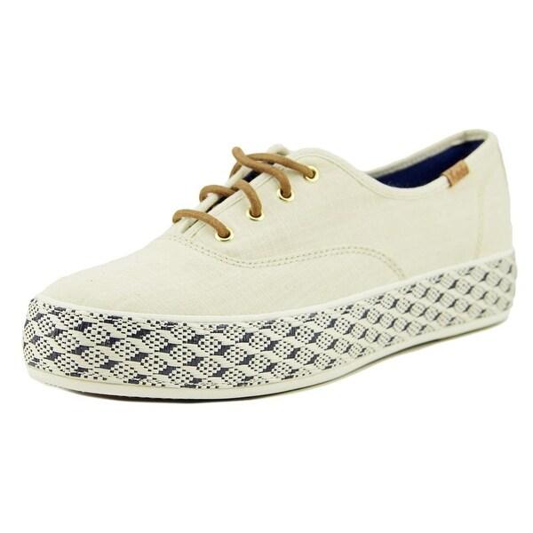 Keds Triple Raffia Foxing Women Natural Sneakers Shoes
