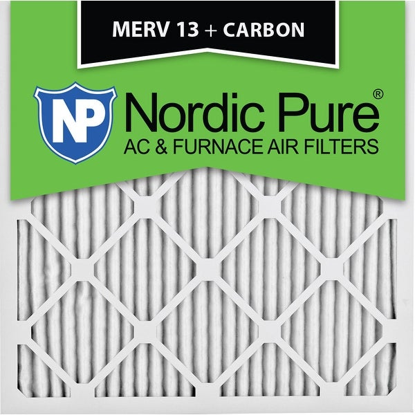 shop nordic pure 18x18x1 merv 13 plus carbon ac furnace air filters ...