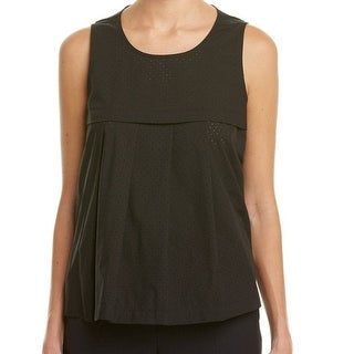Anne Klein NEW Black Women's Size 8 Scoop Neck Pleated Tank Cami Top