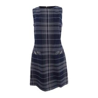 Tommy Hilfiger Women's Plaid Sheath Dress (6, Midnight Multi) - midnight multi - 6