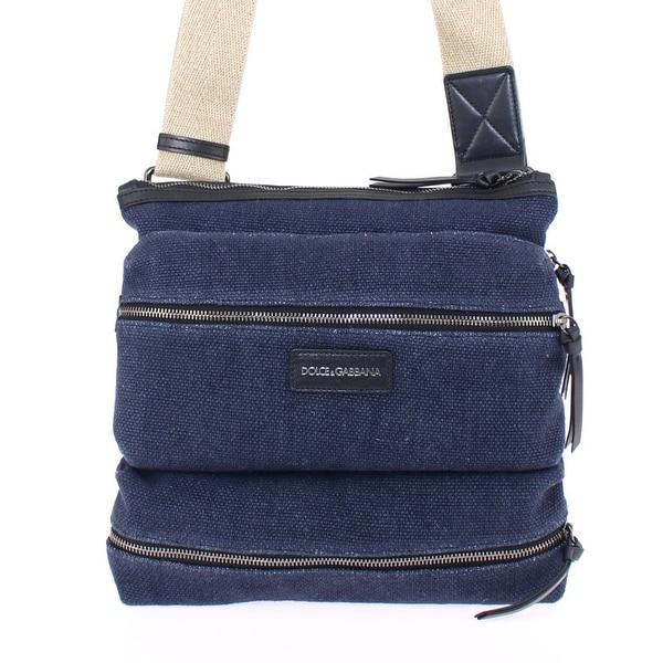 1b6ce737a8 Shop Dolce   Gabbana Blue denim messenger bag - Free Shipping Today ...