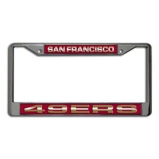 San Francisco 49ers Laser Cut Chrome License Plate Frame