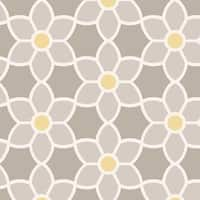 Brewster 2535-20605 Blossom Grey Geometric Floral Wallpaper