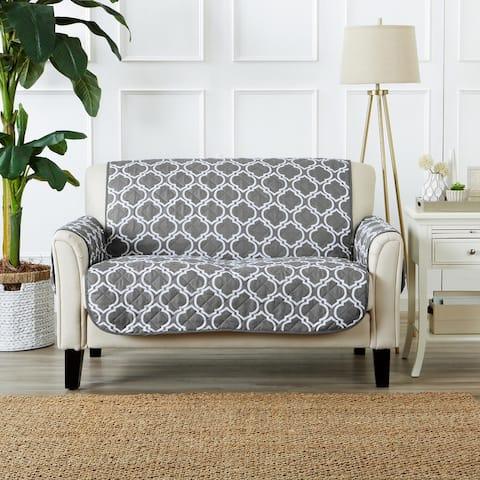 Great Bay Home Printed Reversible Love Seat Furniture Protector - Love Seat - Love Seat