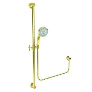 Newport Brass 280F Multi-Function Hand Shower Package with Slide Bar, Hose, and Wall Supply