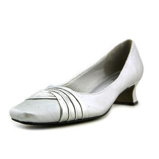 Easy Spirit Tidal Women W Square Toe Synthetic Silver Heels