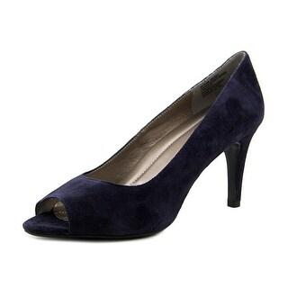 Easy Spirit Keimi Women Peep-Toe Suede Blue Heels