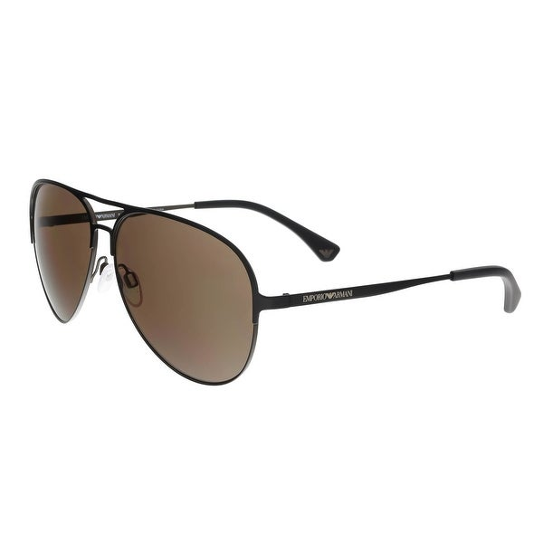 47893e428c0a Shop Emporio Armani EA2032 312773 Brown Aviator Sunglasses - 59-13 ...