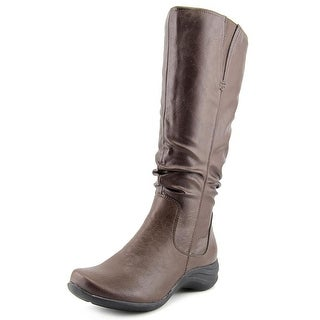 Hush Puppies Feline alternative Wide calf Women Round Toe Brown Mid Calf Boot