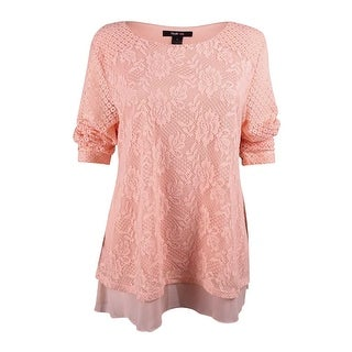 Style & Co. Women's Lace Overlay Top