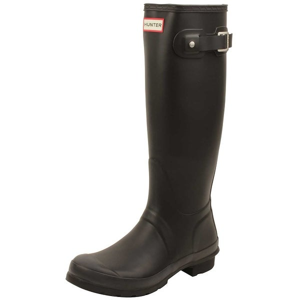 Hunter Womens Original Tall Rain Boots in Black