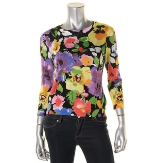 Ralph Lauren Womens Casual Top Floral Print Long Sleeves