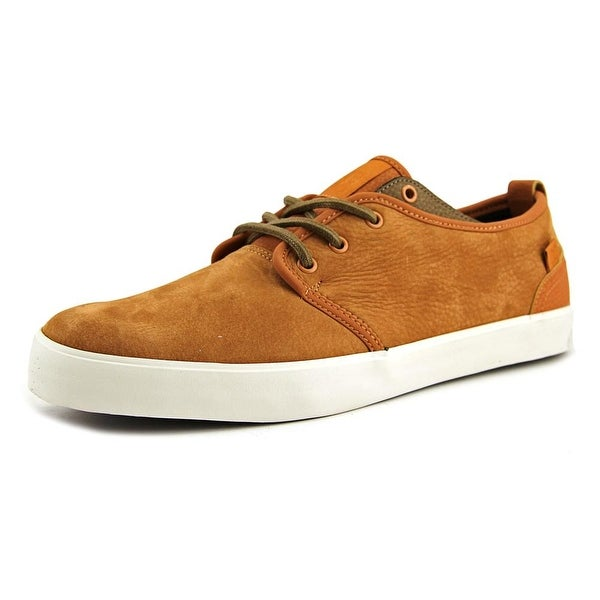 DC Shoes STUDIO 2 LE Men Round Toe Leather Brown Sneakers