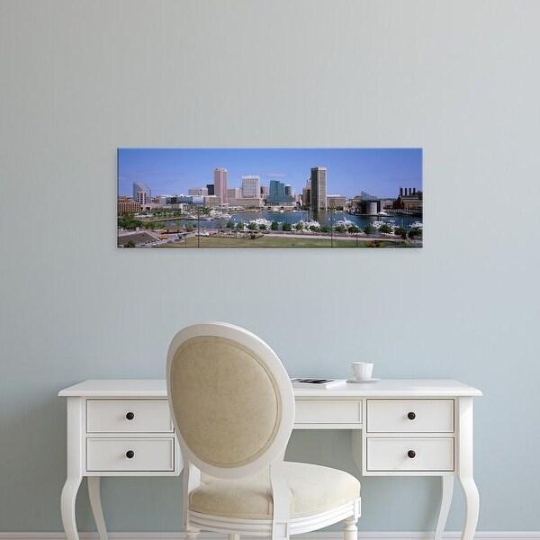 Easy Art Prints Panoramic Images's 'Inner Harbor Skyline Baltimore MD USA' Premium Canvas Art