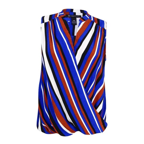 02823035d9bf3 Shop INC International Concepts Women s Plus Size Striped Surplice Top -  Free Shipping On Orders Over  45 - Overstock.com - 17019287