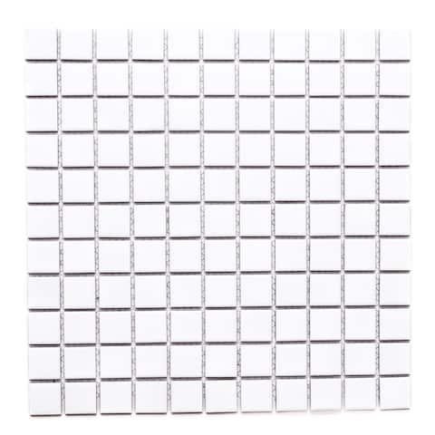 """1"""" x 1"""" Porcelain Mosaic Tile (10 sheets/ 10 sq ft)- CASE - 12""""X12"""" case of 10"""