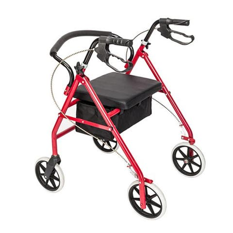"Steel & Nylon Walker with Wheels Black & Red - 8'9"" x 12'"