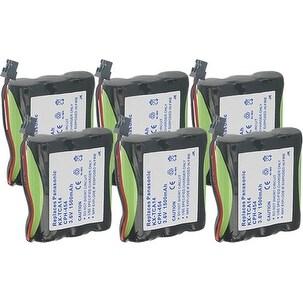 Replacement Panasonic KX-T800 NiMH Cordless Phone Battery - 1500mAh / 3.6v (6 Pack)