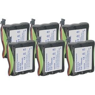 Replacement Panasonic KX-T800 NiMH Cordless Phone Battery - 1500mAh / 3.6v (6 Pack)