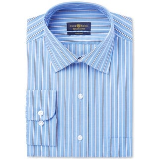 """Link to Club Room Mens Stripe Button Up Dress Shirt, blue, 15.5"""" Neck 34""""-35"""" Sleeve Similar Items in Shirts"""