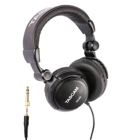 Tascam TH-03 Closed Back Over-Ear Headphone (Black)