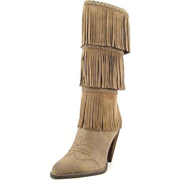 Very Volatile Rural Women Pointed Toe Suede Knee High Boot