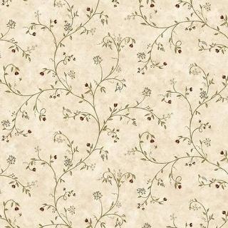 Brewster FFR66163 Neutral Wildflower Trail Wallpaper - neutrals