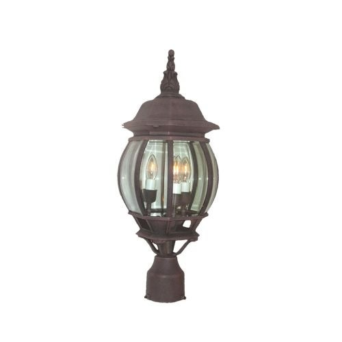 Woodbridge Lighting 61006-RTP 1 Light Post Light with Clear Glass from the Basic Outdoor Collection