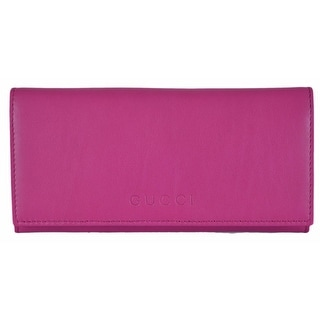New Gucci Women's 305282 PINK Leather W/Coin Pocket Continental Wallet