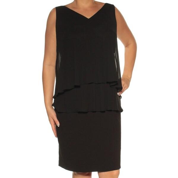 Shop Ralph Lauren Womens Black Sleeveless V Neck Knee