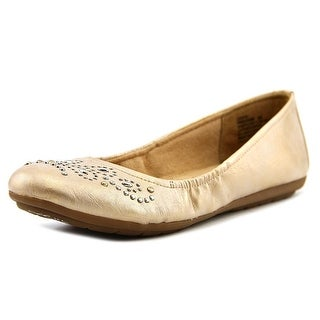 Naturalizer Unison Women W Round Toe Synthetic Gold Flats