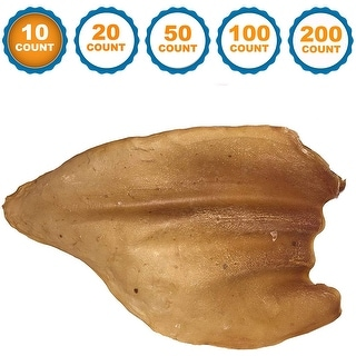 Link to Dog Chews Cow Ears All Natural Animal Ears from Free Range Grass Fed Cattle with No Hormones, Additives or Chemicals Similar Items in Dog Food & Treats